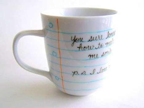 Handwritten Cup Designs