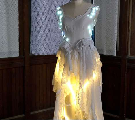 Shifting Illuminated Frocks - Walk Down the Aisle With Whimsy in the LED Wedding Gown