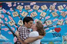 Time-Lapse Nuptials - This Precious Graffiti Marriage Proposal Video is Artistically Adorable