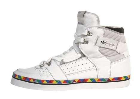 Triangulated High-Tops - The Adidas Hardland 'White & Multi' 2011 is a Summery Take on Average Kicks