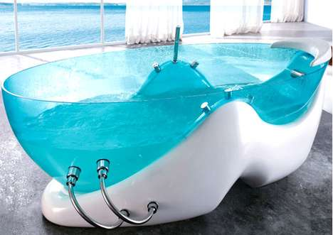 Translucent Blue Bathtubs