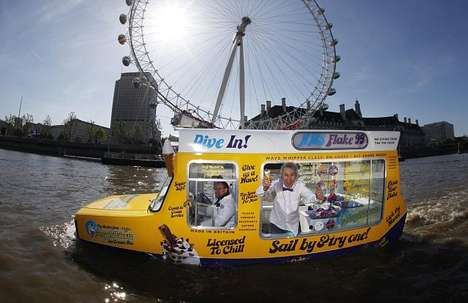 Amphibious Ice Cream Vans - HMS Flake 99 is the World's First Floating Soft-Serve Truck