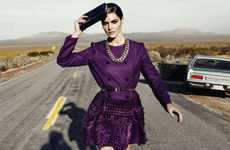 Fierce Freeway Fashions - The Hilary Rhoda Harper's Bazaar Shoot Dominates
