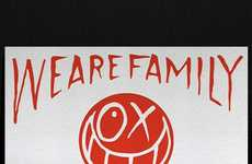 Smiley Graffiti Relief Prints - The Andre x Japan Flag 'We Are Family' Poster Created to Aid Japan