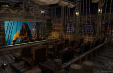 Blockbuster-Themed Theaters - Elite Home Theater Seating Creates a Pirates of the Caribbean Room