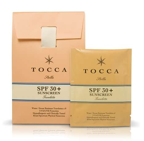 Sun-Blocking Wipes - Tocca SPF 30+ Sunscreen Towelettes are a New Way to Beat the Heat