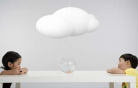 The Zhao Liping Cloud Lamp is Billowy and Bulbous