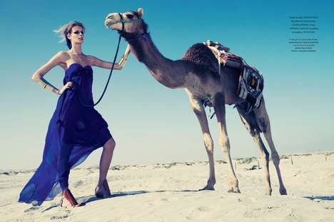 Jacquetta Wheeler Connects with Camels for Daniel Burman and L'Officiel