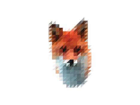 Pixelated Animal Art