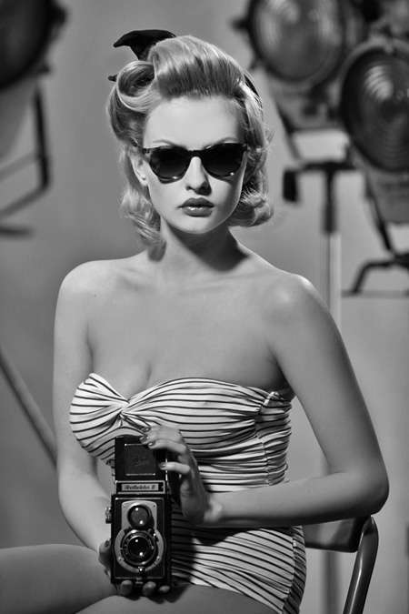Blonde Bombshell Bifocals - The Massada Eyewear SS11 Photo Campaign is a Tribute to the '50s