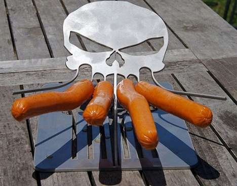 Badass Frankfurter Grillers - The Cthulhu Weenie Roaster is the Ultimate Skull-Shaped Hot Dog Cooker