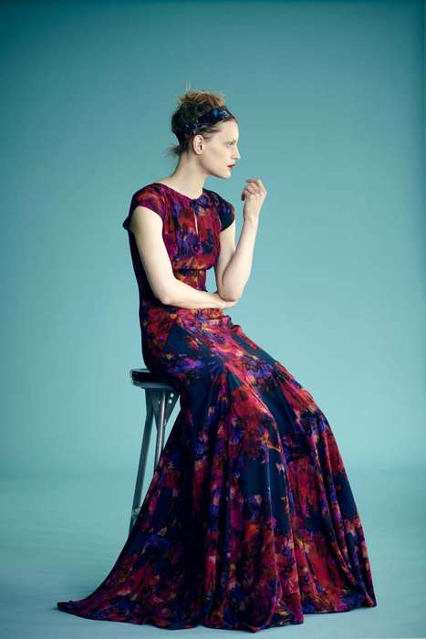 Vintage Resort Lookbooks - Erdem Resort 2012 Mixes 70s Fashion with Royal Textiles