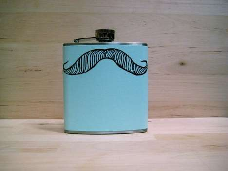 Handmade Hipster Flasks - Whimsy & Ink Craft Booze Containers with Attitude