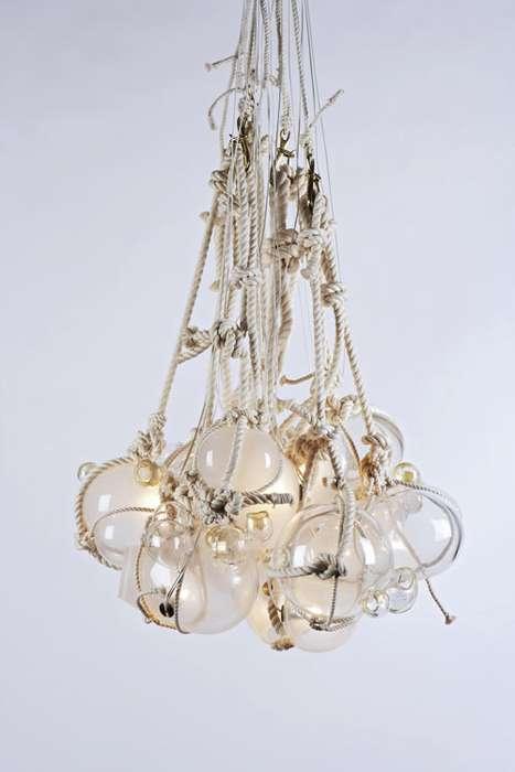 Braided Globe Lights