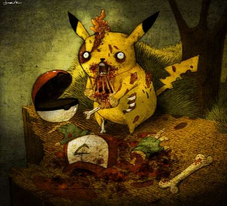 Tormented Childhood Illustrations - Berk Ozturk Creepifies All Your Nostalgic Memories