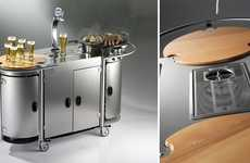 Portable Party Carts - Keep Guests Entertained Everywhere With the Alpina Grills Mobile Beer Bar