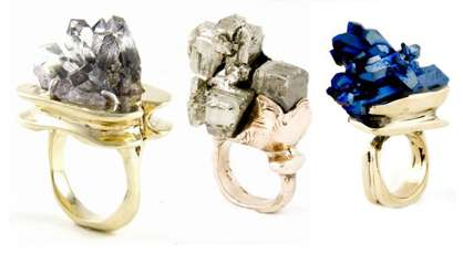 Raw Gem Rings - The Andy Lifschutz Nature Speaks Jewelry Collection is Naturally Elegant