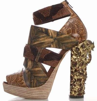 Opulent Etched Heels