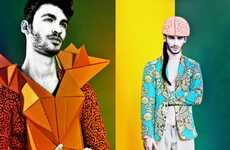 Chromatic Origami Menswear - Hey it's Hue by Enzo Mondejar is a Trippy Fashion Treat