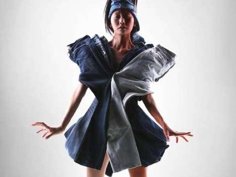 Layered Denim Dresses
