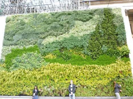 The Green Wall of Van Gogh is Full of Flowers