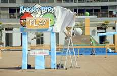 Flying Fowl Ads - The T-Mobile Angry Birds Live Stunt Aims High