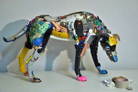 Recycled Robotic Figures