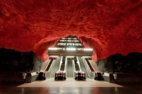 Subway Art Museums - The Stockholm Metro Brings Culture to Public Transit Stations