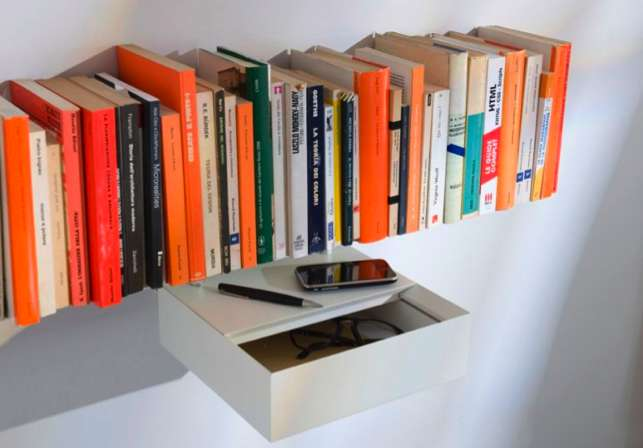 mind boggling invisible bookcases - Funky Bookshelves