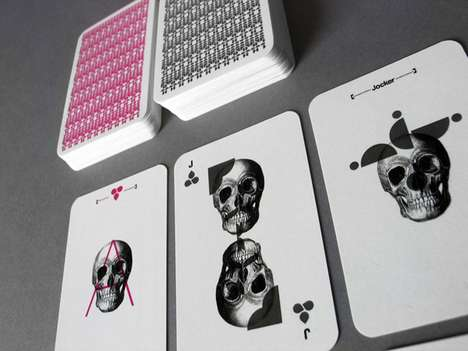 Skulltastic Playing Cards - Mattia Castiglioni's Barebones Cards Badassifies Your Deck