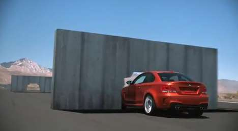 Epic Driving Commercials - The BMW 1 Series M Coupe Gets Pushed Through Some Concrete Walls
