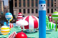 Vibrant Public Playgrounds - The FriendsWithYou Rainbow City Brightens the Town With Cheerful Color