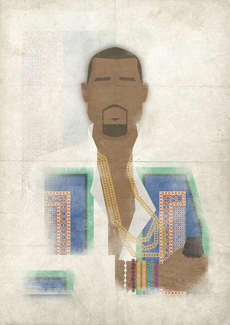 Iconic Superstar Illustrations