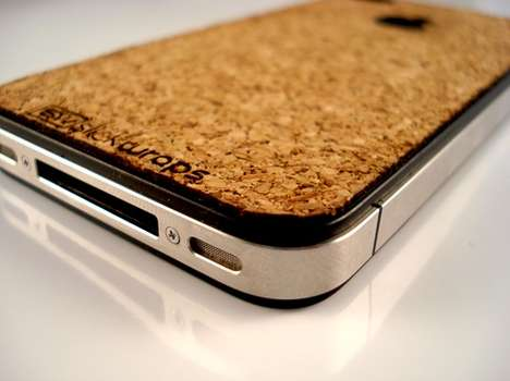 Corky Mobile Skins - The iPhone 4 Cork Board from Slickwraps Gives Your Mobile a Soft Finish