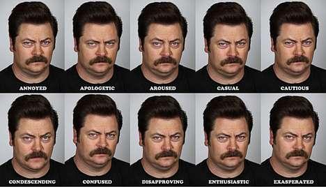 Hilarious Expressionless Headshots