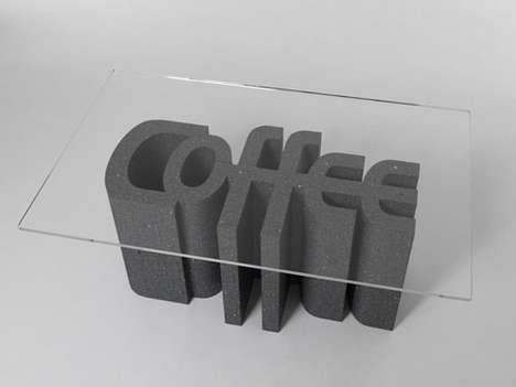 Typographic Coffee Tables - Made in Hollywood Creates a Line of Furniture That Features Fonts