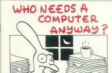 Iconic Animator Illustrations - The Retro Matt Groening Apple Ads are a Blast from the Past