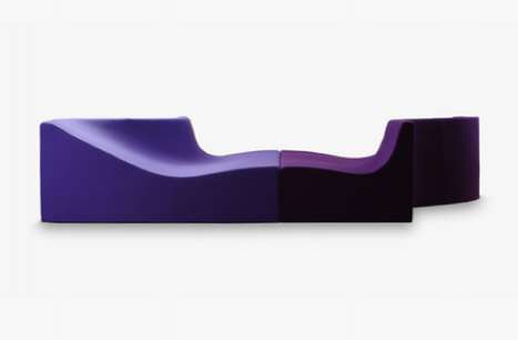 Sinuous Purple Seating