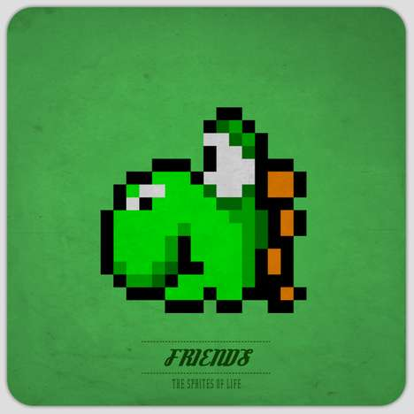 Pixelated Gamer Illustrations