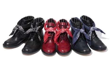 Stylishly Perforated Footwear