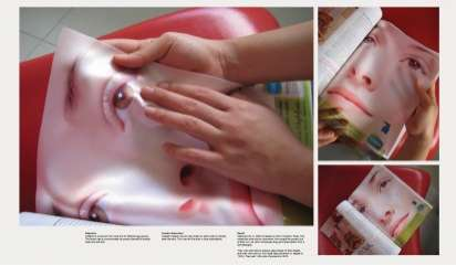 Satiny Skin Ads - The Cetaphil 2011 Campaign Uses Satin Cloth Instead of Paper