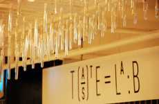 Experimental Food Consulting - Harvey Nichols's Taste Lab Boasts a Stunning Test Tube Chandelier