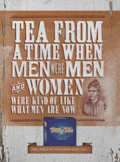 Testosterone-Filled Tea  - Billy Tea Creates an Unconventionally Masculine Ad Campaign