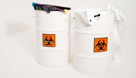Radioactive Laundry Holders - These Biohazard Laundry Baskets by Thor-Hoy are for Filthy Clothing