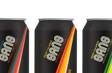 Retro Pop Packaging - The SANS Natural Diet Soda is All Natural & Brilliantly Branded