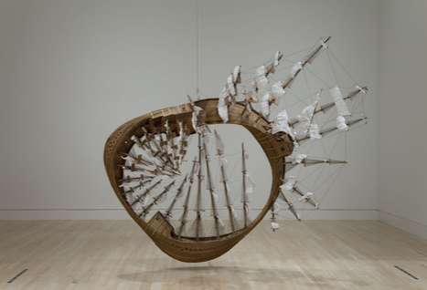 Intense Model Boats - The Mobius Ship by Tim Hawkinson is an Awesome Twisted Creation