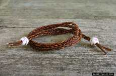 Braided Leather Wrap Bracelets