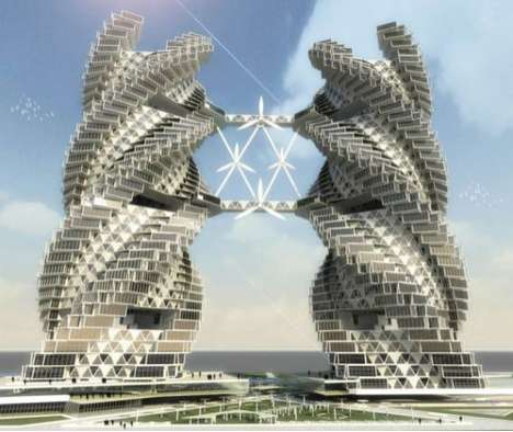 Sustainable Twin Towers - Vikas Pawar Designs an Eco-Friendly Set of Towers for Northern India