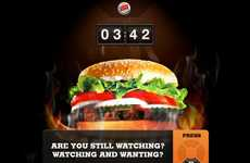 Hypnotizing Burger Campaigns - The Burger King Whopperlust Promo Pays You to Stare at Your TV
