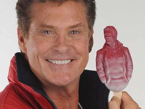 Baywatch Hunk Ice Cream - The Hoffsicle is a Raspberry-Flavored David Hasselhoff Popsicle